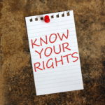 Know Your Rights written on paper